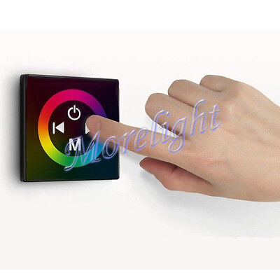 Glass Touch Panel Wall Mount Controller Dimmer for RGB Strip Light 5050 4pin LED Glass Touch Controls