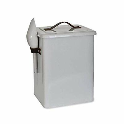 Pet Bin Food Storage with Scoop and Leather Handles Crafted in
