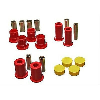 - Energy Suspension Control Arm Bushings Front Upper/Lower Polyurethane Red Dodge