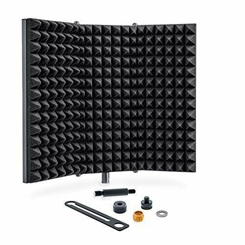 Professional Studio Recording Microphone Isolation Shield, Pop Filter, High
