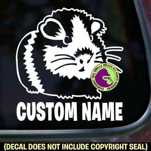 Guinea Pig #1 - ADD YOUR CUSTOM WORDS - Vinyl Decal Sticker Love Car Window Sign