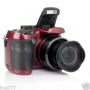 GE-X5-Power-Pro-Series-14-1-MP-Digital-Camera-with-15X-Optical-Zoom-Burgundy-RED