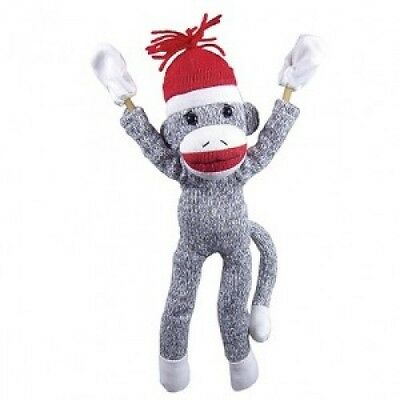 Screaming Superfly Stuffed Slingshot Sock Monkey - Soft & Plush Toy