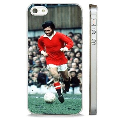 george best manchester united CLEAR PHONE CASE COVER fits iPHONE 5 6 7 8