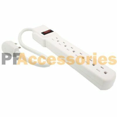 1 FT 6 Outlet Safety Surge Protector Angle Plug AC Wall