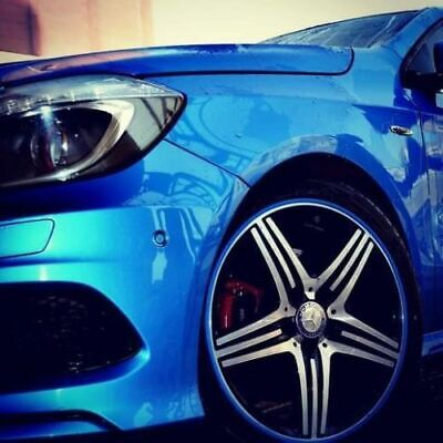 Rimblades Scuffs 4 Car Alloy Wheel Rim Trim Protectors Tyre Guard Pinstripe Line