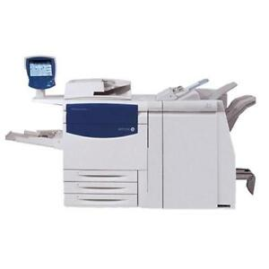 REPOSSESSED Xerox Color C75 J75 Press Printing Shop Production Printer Copier Booklet Maker Finisher - BUY RENT LEASE