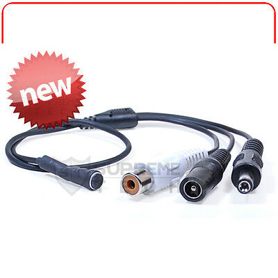 "NEW 12"" Pre-Amplified Mini Hidden Microphone Mic RCA Power Input Output CCTV 12V"