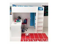 IKEA Stuva loft bed for boys for sale (incl. desk, wardrobe and FREE chair)