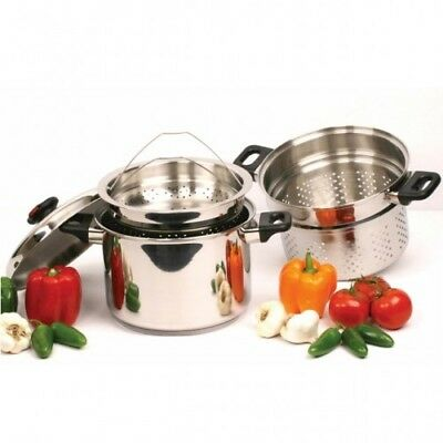 NEW 8 QT STAINLESS STEEL MULTI PASTA SPAGHETTI COOKER STOCK...