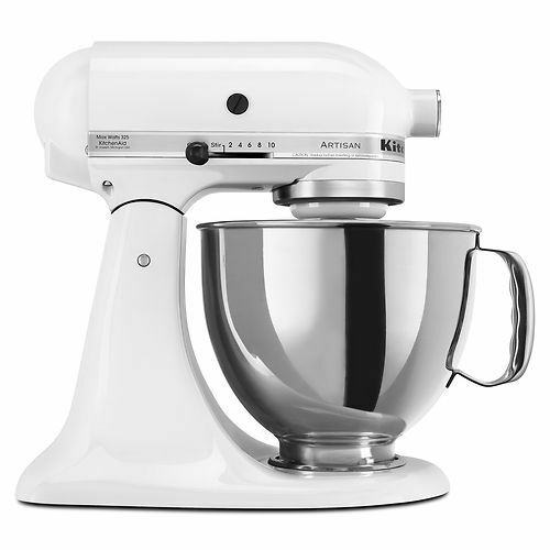 KitchenAid Stand Mixer tilt 5-QT RRK150 Artisan Tilt Choose The Beautiful Colors White wh