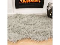 6x Faux fur sheepskin rug