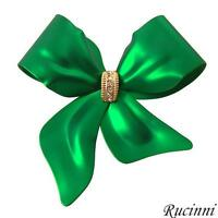 """BRAND NEW """" BOW """"  PIN / BROOCH WITH SWAROVSKI CRYSTALS"""