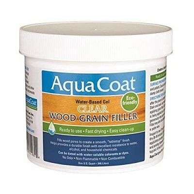 Clear Gel Wood Grain Filler - Quick Dry Water Based Low Odor Non Toxic