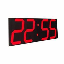 Goetland 17-3/5 inches Jumbo Wall Clock LED Digital Multi Functiona