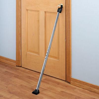 Door Security Bar Lock Entry Barricade Reinforcement Burglar Front Metal Stopper