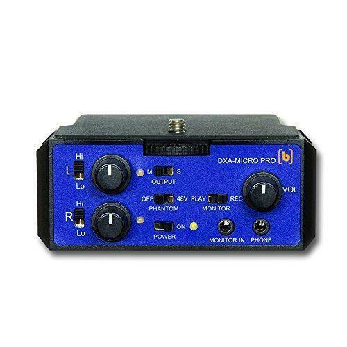 Beachtek DXA-MICRO PRO Compact One XLR Input 48V Phantom Power Audio Adapter