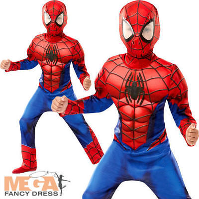 Deluxe Ultimate Spider-Man Boys Fancy Dress Superhero Comic - Ultimate Comics Spider Man Kostüm