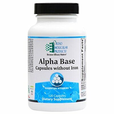 Ortho Molecular - Alpha Base Caps without Iron - 120 Capsules