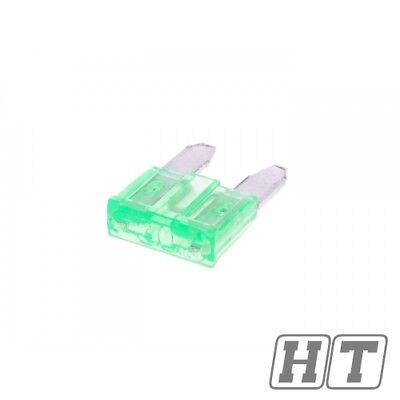 FUSE FLAT PLUG IN FUSE MINI 111MM 30A GREEN FOR SCOOTER MOTORCYCLE