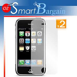 2 x ANTI GLARE MATTE SCREEN GUARD PROTECTOR iPhone 3GS