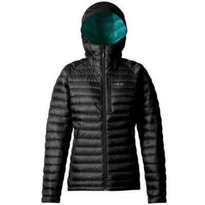 RAB Womens Black Microlight Alpine Insulated XLong Down Jacket Ladies UK 10 BNWT for sale  Shipping to Ireland