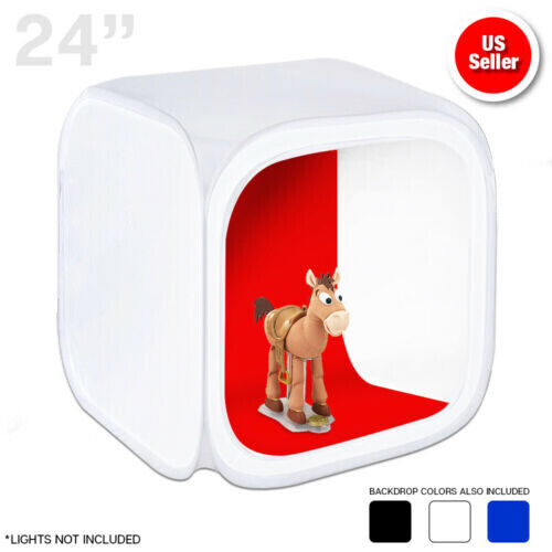 """1PACK 24"""" Lighting Tent Kit Backdrop Cube In A Box Photo Studio Photography"""