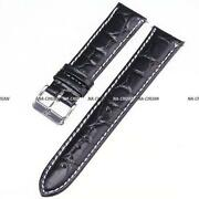 20mm Black Leather Watch Band