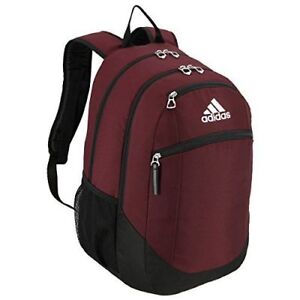 1a5f79a8374 adidas Unisex Striker II Team Backpack Maroon black white One Size ...