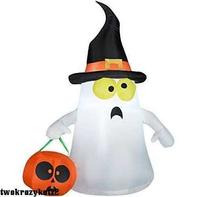 HALLOWEEN LED AIRBLOWN INFLATABLE GHOST OUTDOOR INDOOR DECOR BRAND - Make Halloween Decorations Outside