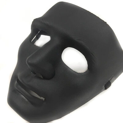 All Black Mask (All Black Hip Hop Dancing men Mask Costume Prom Party Blank Simple)