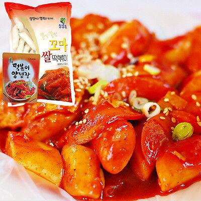Gangwon, Korean TOPOKKI SET, with Sweet Sauce,Rice Cake,Not spicy,Korean Food