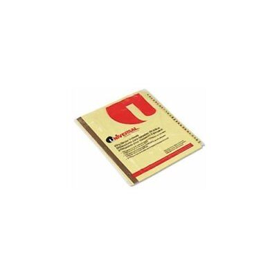 Universal Office Products 20812 Preprinted Plastic-coated Tab Dividers, 25
