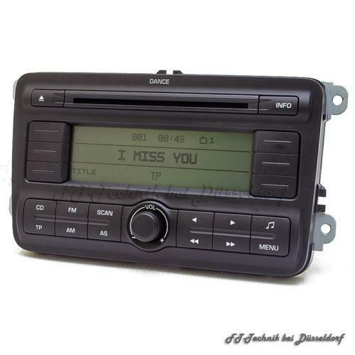 autoradio skoda fabia radios dvd player wechsler ebay. Black Bedroom Furniture Sets. Home Design Ideas