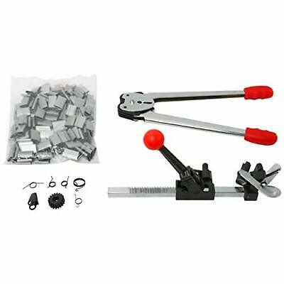 Strapping Banding Tools Kit Pp Strap Sealer Crimper Cutter With 120pcs Seals