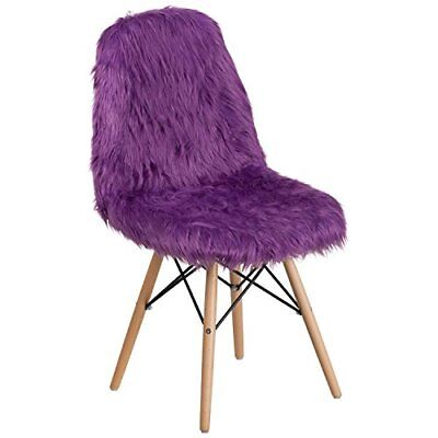 Flash Furniture Shaggy Dog Purple Accent Chair ()