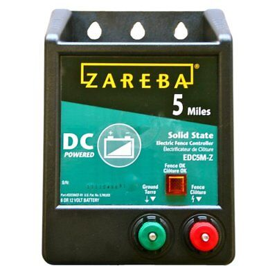Zareba Edc5m-z 5-mile Battery Operated Solid State Fence Charger