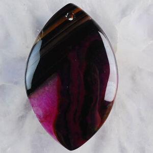 Crystal Agate Olivary Pendant - New