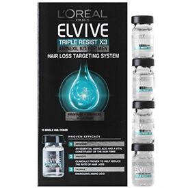 L'Oreal Elvive Triple Resist Aminexil Kit 6 ml - Pack of 10 * STOCKING FILLER*