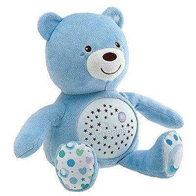"""CHICCO Nachtlicht Sternenhimmelprojektor Bär """"blau"""" Einschlafhilfe - NEU -"""