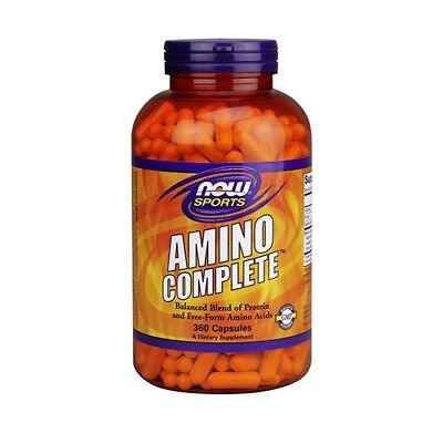 Now Foods Amino Complete MHD.07.2019 120 Kapseln Aminosäuren Bcaa Muskelaufbau