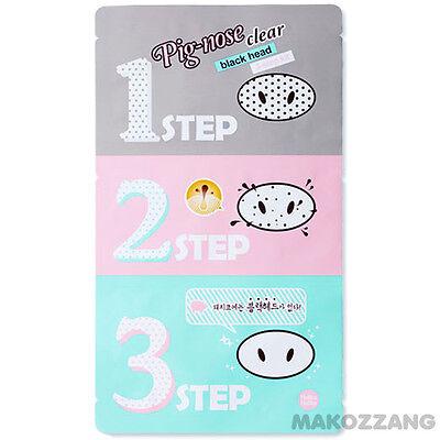 Holika Holika Pig-Nose Clear Black head 3-STEP KIT Strips Packs Masks Peel Scrub