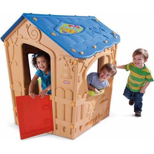 little tikes outdoor playhouse ebay. Black Bedroom Furniture Sets. Home Design Ideas