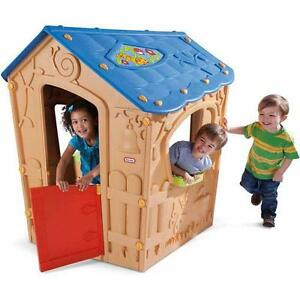 Outdoor playhouse ebay for Little tikes house