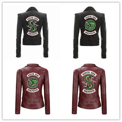 Cool Girls Southside Serpents Riverdale Damen-Lederjacke Jacken Mode Mädchen x33