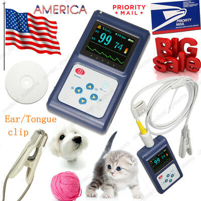 Vet Heart Pulse Oximeter Veterinary Tongueear Spo2 Clip Blood Oxygen Monitorus