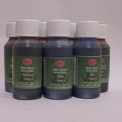 WOOD DYE - Bolgers water based wood stain - non toxic - Choice Of Colours  100ml ()