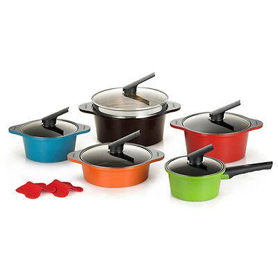 [HAPPYCALL]Alumite Ceramic Pots Die Casting Ceramic Coating Kitchenware 5 Set //