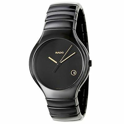 Rado Men's True Black Ceramic Bracelet Watch R27653172 NEW