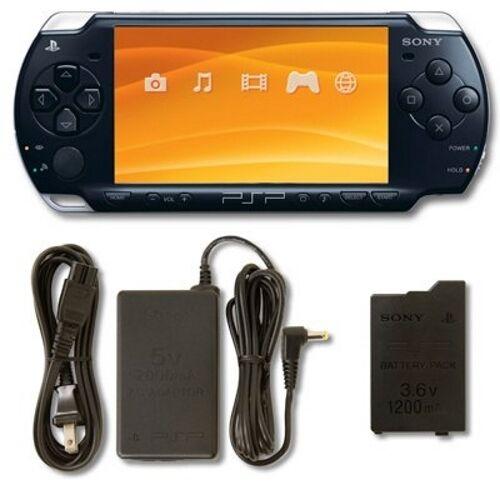 PlayStation Portable PSP 2000 System Piano Black Handheld Good 3Q